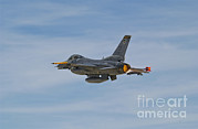 Aircraft Engine Framed Prints - U.s. Air Force F-16c Fighting Falcon Framed Print by Scott Germain