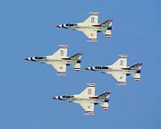 Jets Framed Prints - U.S. Air Force Thurderbirds Framed Print by Nick Zelinsky