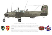 Army Digital Art Posters - U.S. ARMY RU-8D 146th Poster by Rick Blyseth