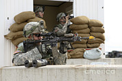 Scrutiny Photos - U.s. Army Soldier Looks Down The Scope by Stocktrek Images