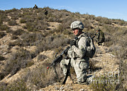 Featured Art - U.s. Army Soldier Scans For Simulated by Stocktrek Images