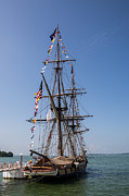 Wooden Ship Photo Posters - U.S. Brig Niagara Poster by Dale Kincaid
