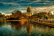 Us Capital Digital Art - US Capitol Building by Karl Barth