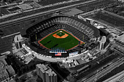 Sport Artist Digital Art Prints - US Cellular Field Chicago Sports 08 Selective Coloring Digital Art Print by Thomas Woolworth
