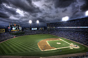 Chicago White Sox Prints - US Cellular Field Twilight Print by Shawn Everhart