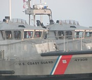 Ship Art - US Coast Guard Boat by Cathy Lindsey