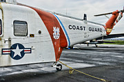 Co-pilot Posters - US Coast Guard Helicopter Poster by Paul Ward