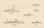 Patrol Drawings Posters - U.S. Coast Guard Patrol Boats of the Prohibition Era Poster by Jerry McElroy