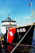 1987 Art - US Coast Guard Ship by Thomas R Fletcher