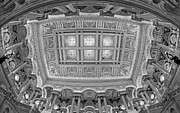 Mural Photos - US Library Of Congress BW by Susan Candelario