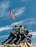 Raising Art - US Marine Corps War Memorial by Nick Zelinsky