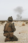 Training Exercise Photos - U.s. Marine Provides Security As Part by Stocktrek Images