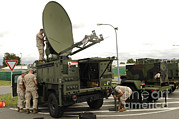 Communication Photos - U.s. Marines Set Up A Phoenix Satellite by Stocktrek Images