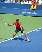 Grand Slam Photo Posters - US Open Juan Martin del Potro Poster by Maria isabel Villamonte