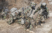 Training Exercise Photos - U.s. Soldiers Wear Gas Masks by Stocktrek Images