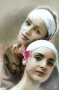 Headband Metal Prints - Us two Metal Print by Gun Legler