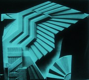 Usa Eagle Sculpture -  Art Deco Print by Gunter  Hortz