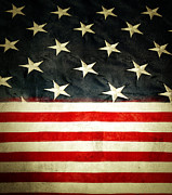 Usa Stars And Stripes Print by Les Cunliffe