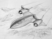 Works Drawings Originals - USAF Lockheed SR-71 Blackbird by Jim Hubbard