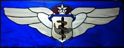 Flight Glass Art Framed Prints - USAF Nurse Corp Cheif Flight Nurse Framed Print by Karin Thue