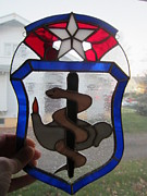 Usaf Glass Art Framed Prints - USAF Nurse Corp Framed Print by Karin Thue