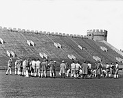 College Sports Prints - USC At Stagg Field Practice Print by Underwood Archives