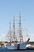Tall Ship Prints - USCG Barque Eagle I Print by Clarence Holmes