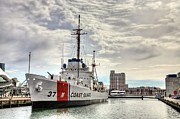 Chesapeake Bay Metal Prints - USCG Cutter Taney Metal Print by JC Findley
