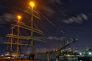Patriotic Scenes Prints - USCG Eagle Cutter - Boston  Print by Joann Vitali