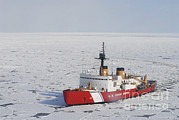 People On Ice Photos - Uscgc Polar Sea Conducts A Research by Stocktrek Images