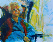 Old Age Painting Originals - Use 2B So EZ - Alzheimers Perch - The Long Good-bye by Charles M Williams