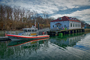 Coast Guard Station Posters - USGS Castle Hill Station Poster by Joan Carroll