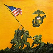 Dean Painting Originals - USMC Iwo Jima by Dean Glorso