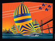 Shed Digital Art - USNA Sunset Sail by Joe Barsin