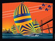 Usna Sunset Sail Print by Joe Barsin
