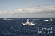 Featured Art - Usns Rainier And Guided Missile by Stocktrek Images