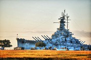 Alabama Posters - USS Alabama Poster by Michael Thomas