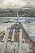 Canons Prints - USS Arizona Memorial-Pearl Harbor V4 Print by Douglas Barnard
