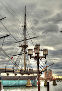 Hatches Harbor Prints - USS Constellation Print by Deborah Smolinske