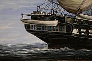 Trafalgar Paintings - USS Constitution 1865 by Richard John Holden