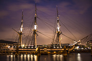 Boston Photography Framed Prints - USS Constitution Boston   Framed Print by John McGraw