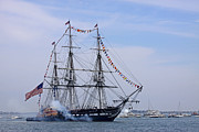 July 4th Framed Prints - USS Constitution July 4th Framed Print by Nancy A Santry