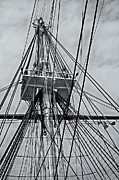 Warships Photos - USS Constitution Mast by Susan Candelario