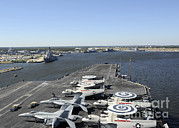 Enterprise Art - Uss Enterprise Arrives At Naval Station by Stocktrek Images
