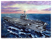 George Bush Paintings - USS George H.W. Bush by Sarah Howland-Ludwig