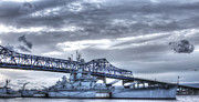 Naval History Framed Prints - USS Massachusetts Framed Print by Andrew Pacheco
