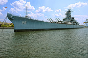 Moored Photos - USS New Jersey by Olivier Le Queinec