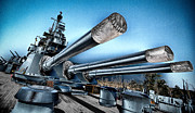 Bb 55 Posters - USS North Carolina Battleship Poster by Craig Bowman