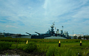 Bb 55 Prints - USS North Carolina BB-55 Print by Tommy Anderson