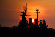 Battleship Photos - U.S.S. North Carolina  by Richard Mann